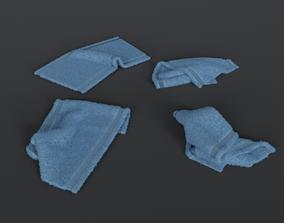 3D model Crumpled towels set
