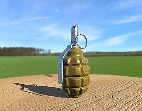 F-1 Grenade UZRGM 3D model