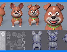 3D Ultimate Dog Puppy Base Mesh