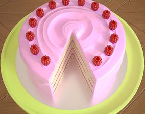 3D Raspberry layer cake