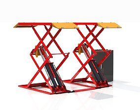 3D model Double car lift Animated automobile