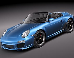 convertible Porsche 911 Speedster 2011 3D Model