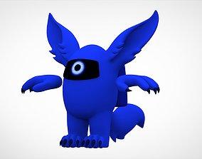 3D asset Among Us Blue Werewolf