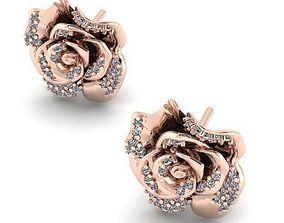 3D printable model Rose earrings 44