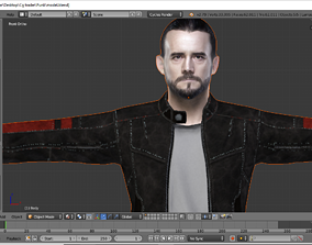 animated CM Punk 3d model