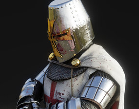 3D model rigged Templar Knight