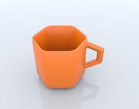 Hexagon shape mug 3D model