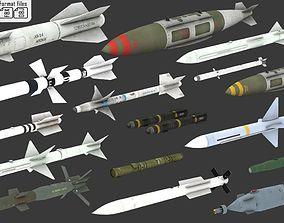 3D asset 16 Missiles
