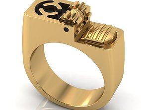 sterling Lighter ring in jewellery 3D print model