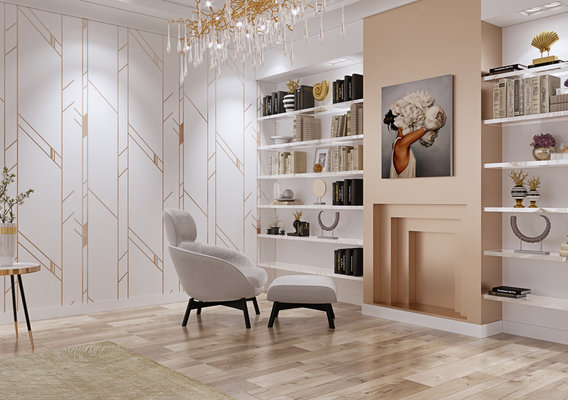 Luxury living room interior by 3DAG