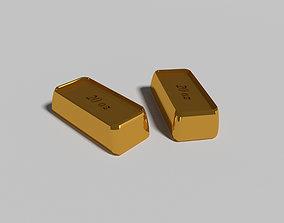 3D model Gold pieces