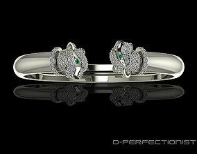 3D print model Panthere De Cartier Diamond Twin Head 1