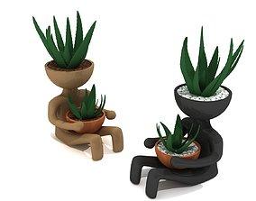 3d printable Man Flower Pot