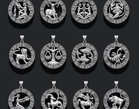 jewellery horoscope signes lite pack 3D print model