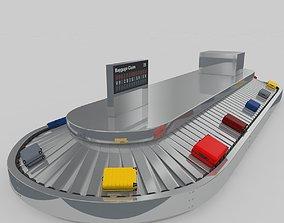 Airport Baggage Conveyor Belt Adjustable 3D model