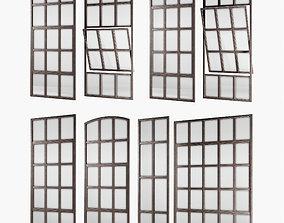 3D asset Loft windows