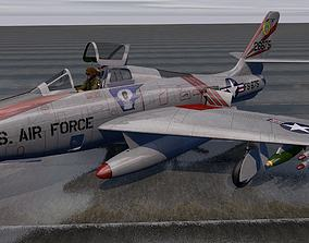 Republic F-84F Thunderstreak 3D model bomber