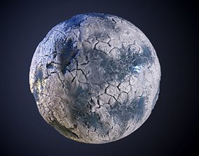 Glacier Ice Seamless PBR Texture 3D