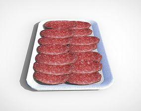 3D model Sausages slices VR / AR ready