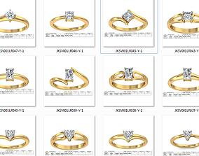 150 Women Ring 3dm render details bulk