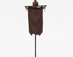 3D asset Skull banner