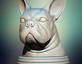 3D printable model French Bulldog Bust