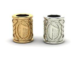 3D print model Beads with celtic rune Lagus