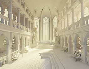 3D medieval palace