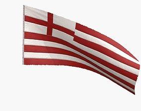 British East India Company Flag 1600-1707 3D model