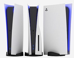 PS5 - SONY Playstation 5 console v3 disk and 3D model 2