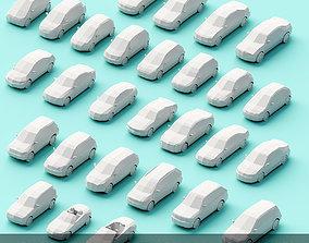 Paper Cars 3D asset
