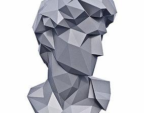 3D model Head of Michelangelo David Low Poly