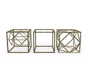 Geometric Decor Objects - Cube Frames 3D model