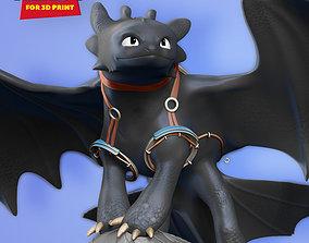 3D printable model Toothless Fanart