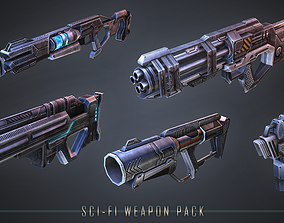 Sci-fi Weapon Pack 3D model