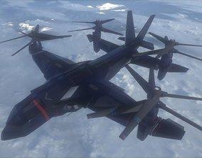 3D model VTOL V48 - Night Eagle aircraft