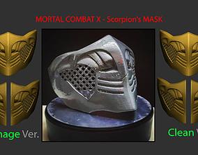 Mortal Kombat X - Scorpion mask For 3D print model 1