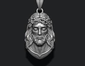 3D printable model Jesus pendant v2