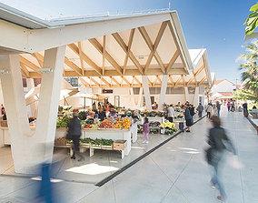 people Open Public Marketplace 3D Model