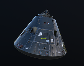 Apollo Command Module 3D asset