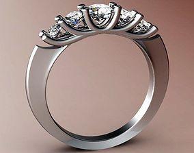 3D print model ring 5gems