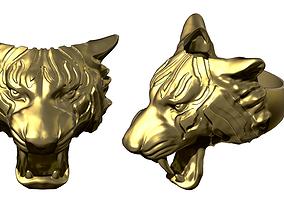 man 3D print model Tiger ring