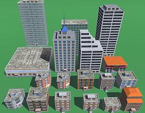 Mobile Buildings Low Poly 3D asset