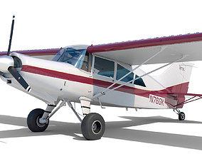3D model Light Airplane Maule interior