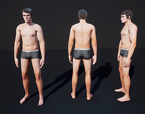 3D model animated low-poly Man Character