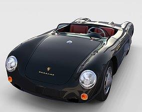 3D Porsche 550 Spyder black rev
