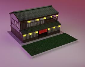 Japanese house 3D asset VR / AR ready
