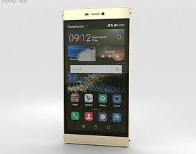 Huawei P8 Prestige Gold 3D