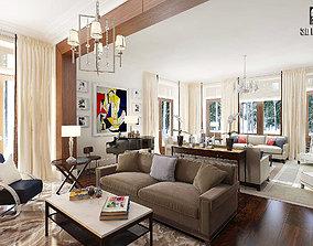 Modern Liveroom Villa 3D model