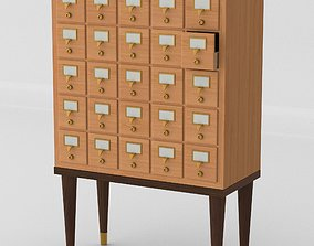 3D Mid Century Card Catalog